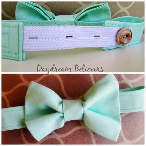 dapper baby little beau bow ties are fully adjustable and comfy for little guys_ Mint Green by Daydream Believers Designs 3