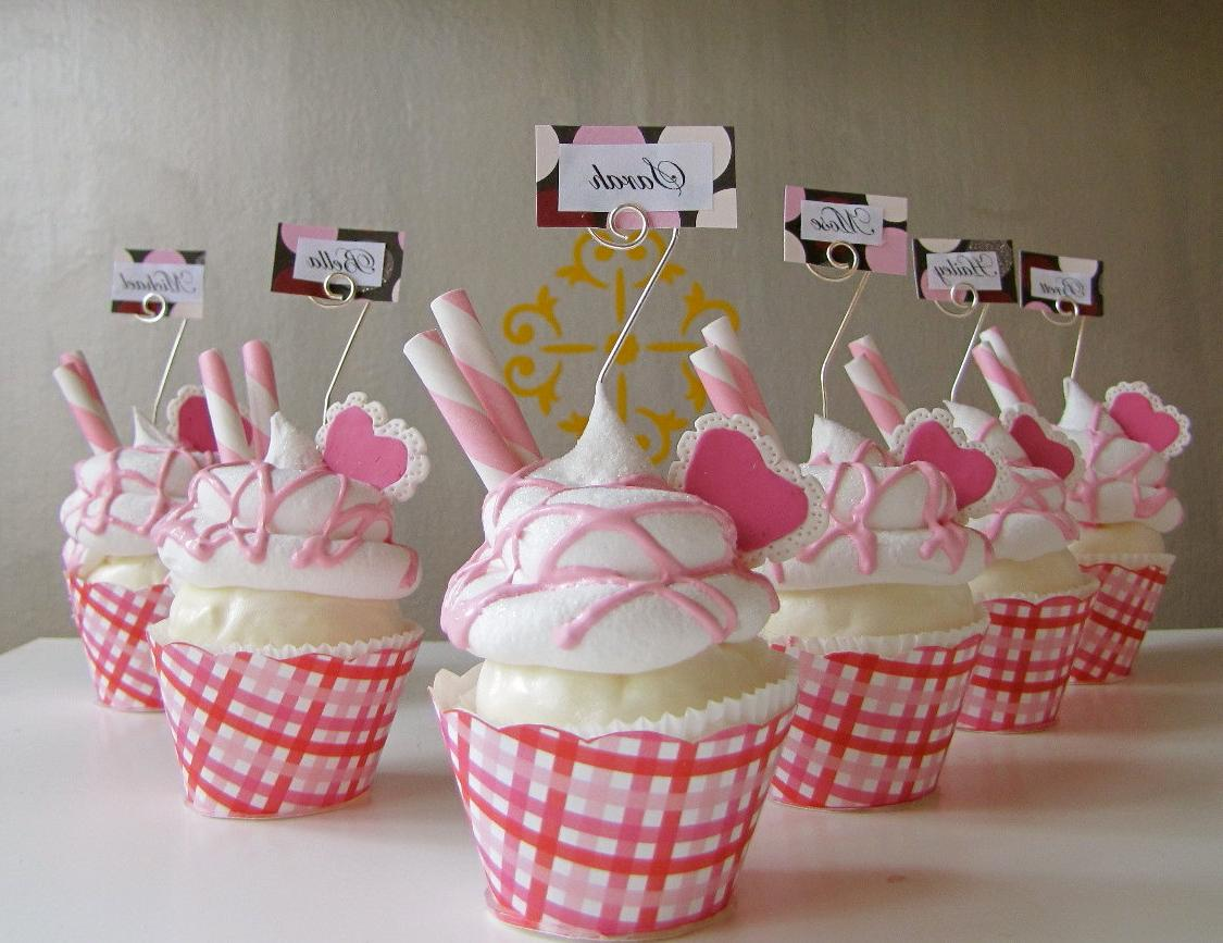 Fake Cupcake Name or Place Card Holder Picture or Business Card Holder One