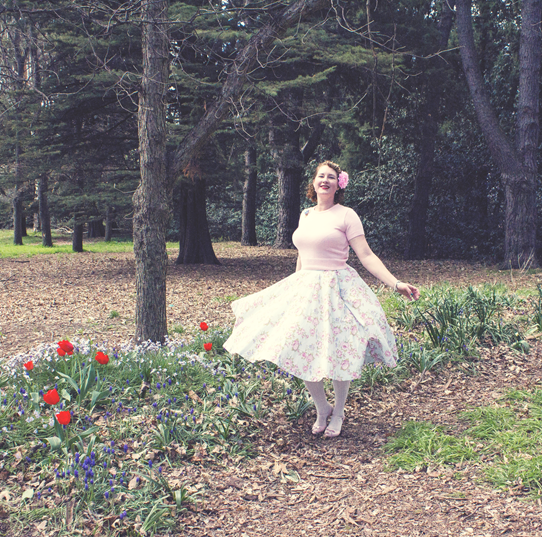 1950's spring vintage style | Lavender & Twill