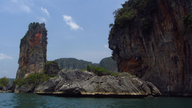 Impenetrable cliffs separate Railay from busy Ao Nang.