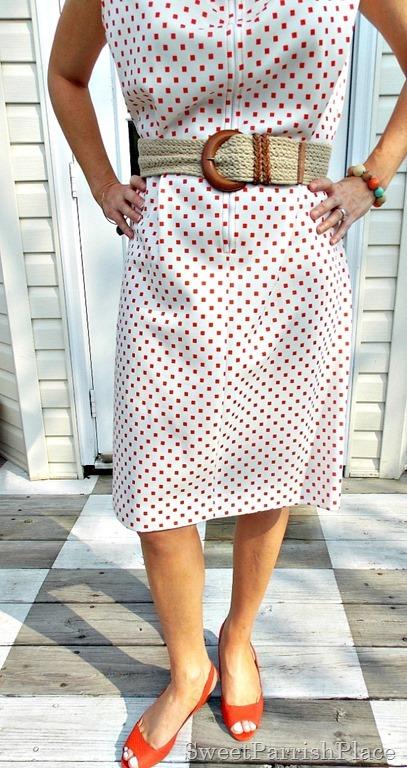 Vintage 1960's Dress, leopard sweater, orange peep toes4