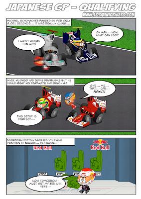 Japanese GP Qualifying - комикс Los MiniDrivers после квалификации на Гран-при Японии 2012