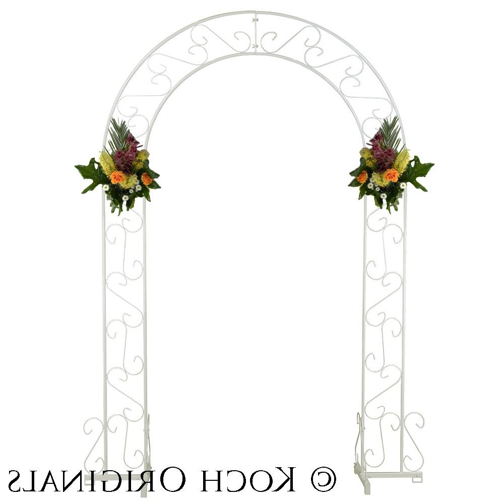 Wedding Arch - 92 - White Scroll Over to Zoom or Click to Enlarge