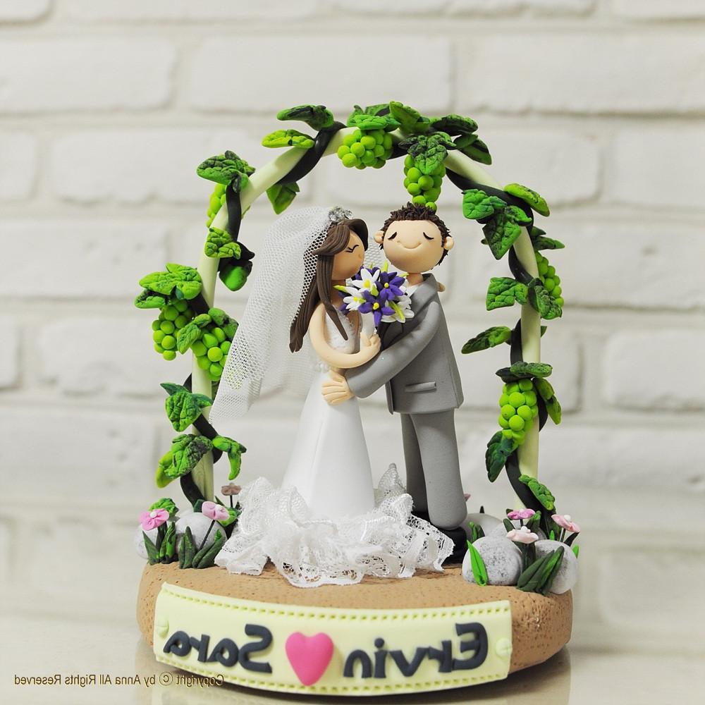 Vineyard theme wedding cake