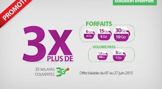Offre Promotionnelle destinée aux Entreprises : Mobilis Triple le volume data 3G++