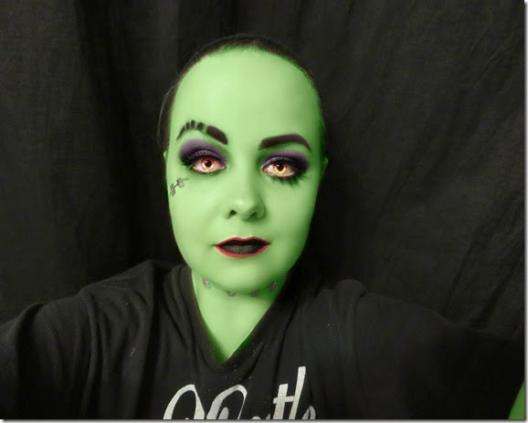 Frankie Stein Shadow Version Full Face Makeup