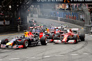Start of the 2014 Monaco F1 GP into 1st corner