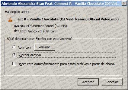 Convertir vídeos youtube a MP3 - guardar archivo MP3