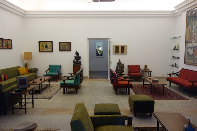 A reception room in Indira Gandhi's residence.