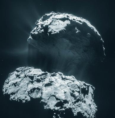 mosaico do cometa 67P Churyumov-Gerasimenko
