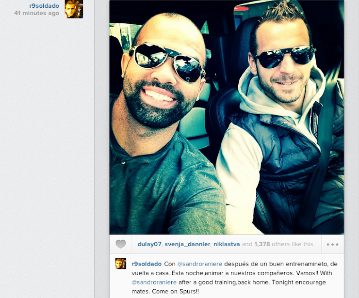 Screen+Shot+2013 10 30+at+18.31.39 Roberto Soldado confirms on Instagram that he wont be playing for Spurs v Hull