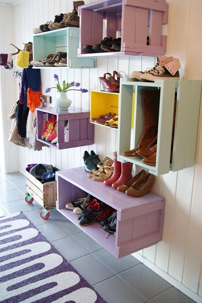 Eco-friendly storage in the home - shoes