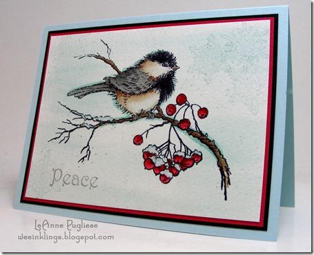 LeAnne Pugliese WeeInklings Chickadee Watercolor
