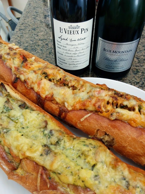 Duo of Baked Egg Baguettes with Syrah & Blanc de Blancs