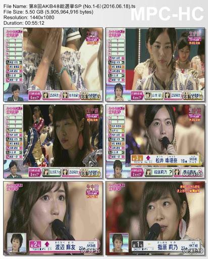 [TV-Variety] AKB48 – 第8回AKB48総選挙スペシャル (2016.06.18)