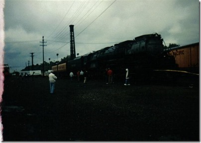 Union Pacific 4-6-6-4 #3985 at Albina Yard in Portland, Oregon on September 26, 1995