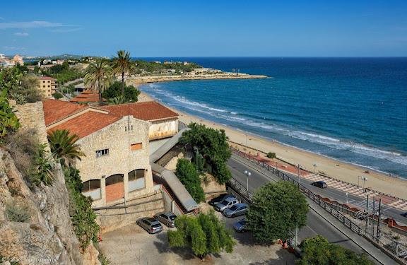 Platja del Miracle des del Balcó del Mediterràni. Tarragona, Tarragonès, Tarragona