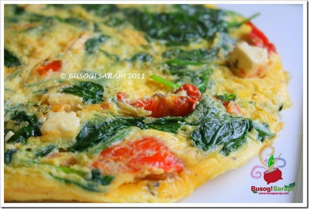 FETA, S.DRIED TOM. & SPINACH FRITTATA WHOLE© BUSOG! SARAP! 2011