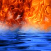 обои на рабочий стол вода и огонь и вода № 153664  скачать