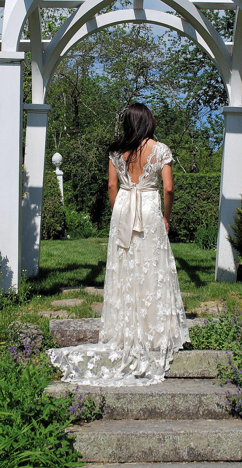 Alencon Lace wedding dress,