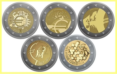 monedas euro 2012 finalistas