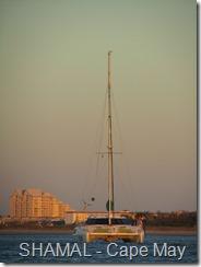 024 SHAMAL at anchor Cape May