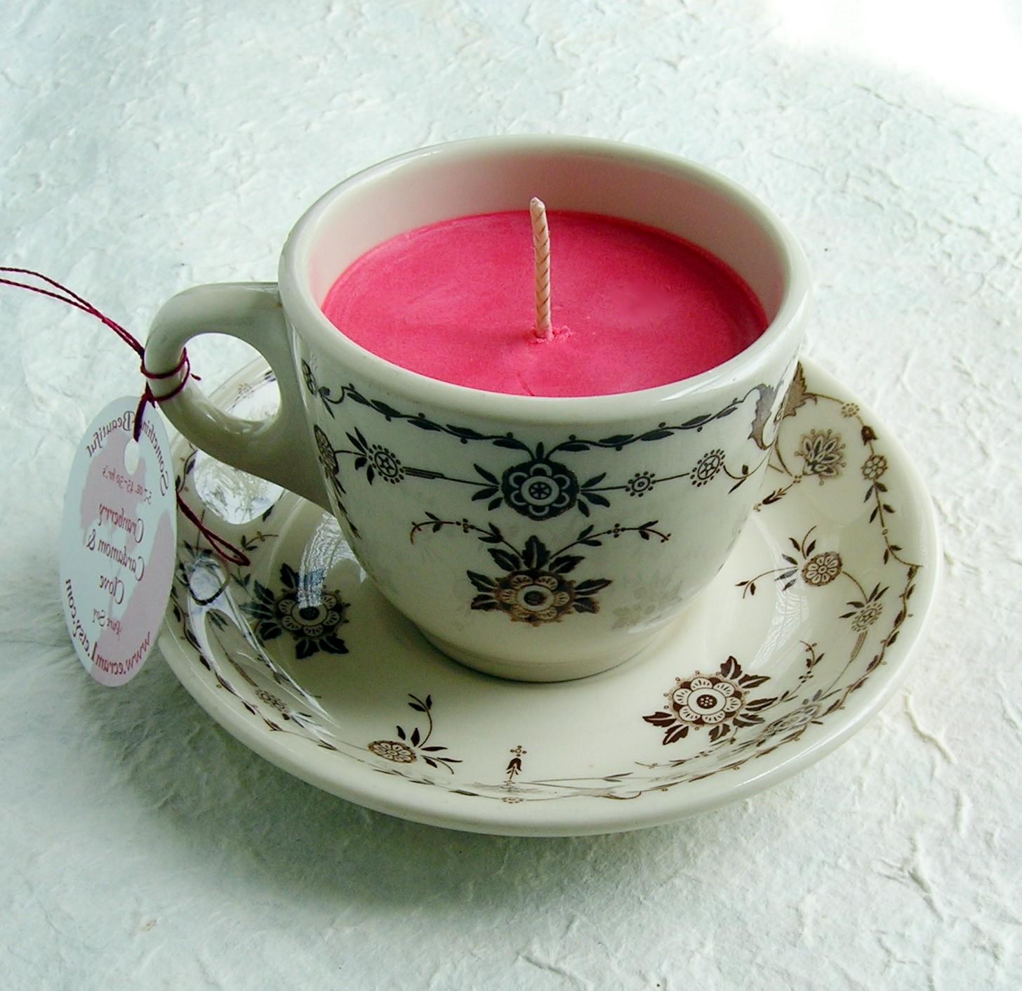 Repurposing old tea cups can
