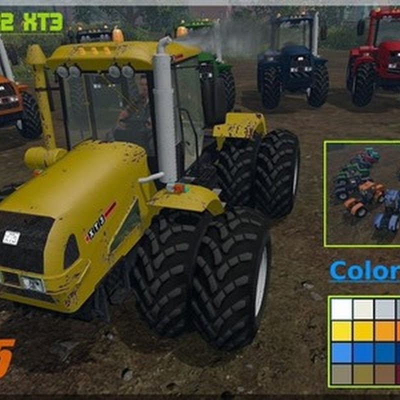 Farming simulator 2015 - HTZ 17222 XT3 v 2.1 Multicolor