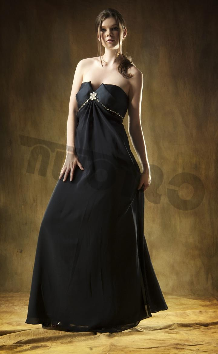 Backless Satin Ball Gown