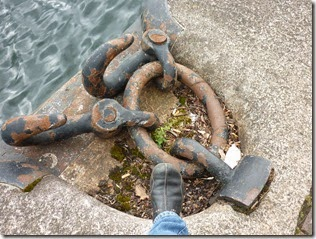 4 rings at salford quays with foot for scale