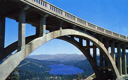 Donner Summit Bridge 1960 Postcard