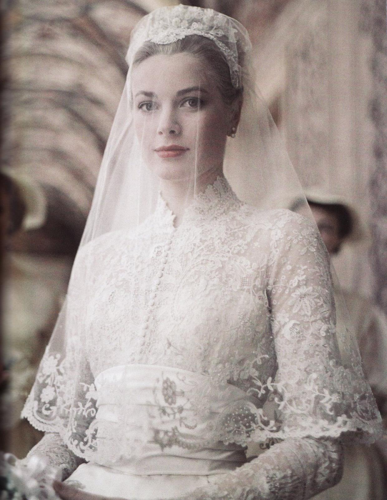 grace kelly wedding portrait