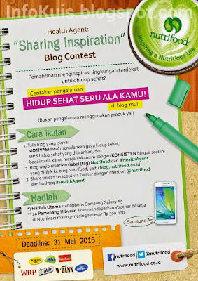 Kontes Blog Sharing Inspiration Nutrifood Hadiah Samsung Galaxy A5 | DL 31 Mei