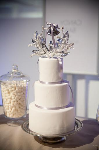 This wedding cake is part of