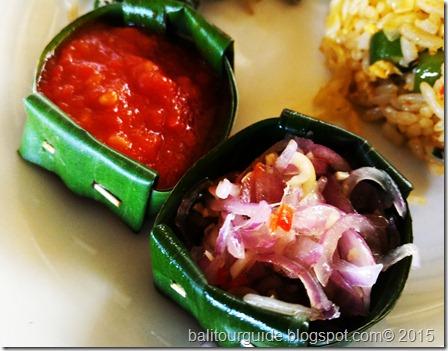Sambal Bawang Matah Bali Sauce Presentation