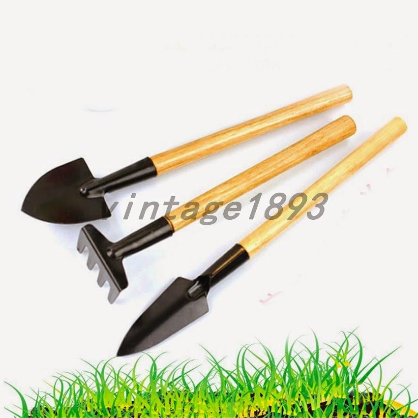 3pcs mini plant garden gardening tools set wooden handle for Affordable garden tools