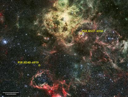 pulsares detectados pelo Fermi