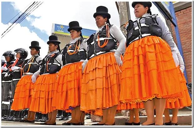 Cholitas en El Alto