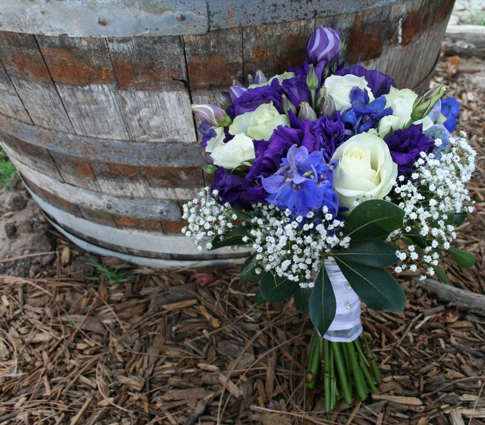 purple and white for weddings