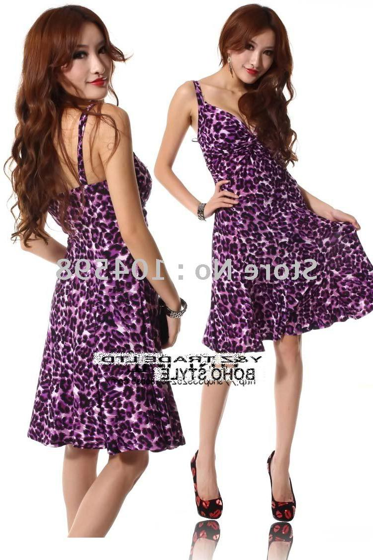 pretty dresses S340 purple