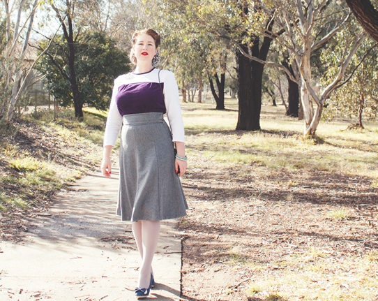 A me-made 1940's look created with vintage patterns | Lavender & Twill