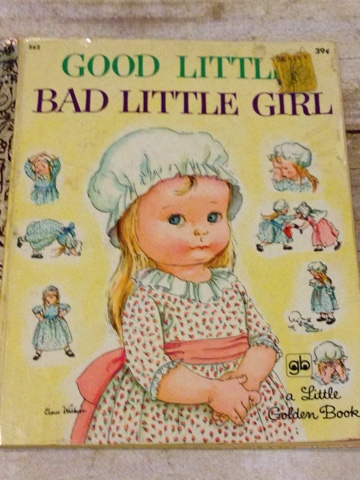 good little bad little girl golden book