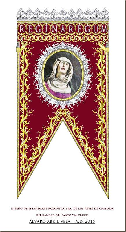 diseño estandarte virgen de los reyes de granada hermandad del santo via crucis alvaro abril vela 2015 granada pequeño