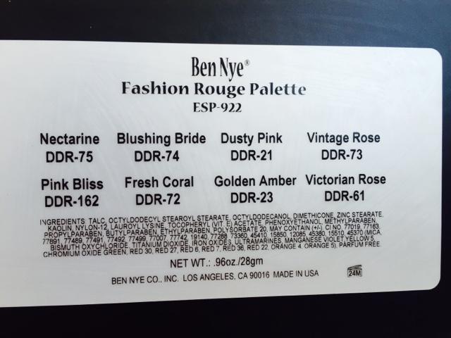 Ben Nye Fashion Rouge Palette