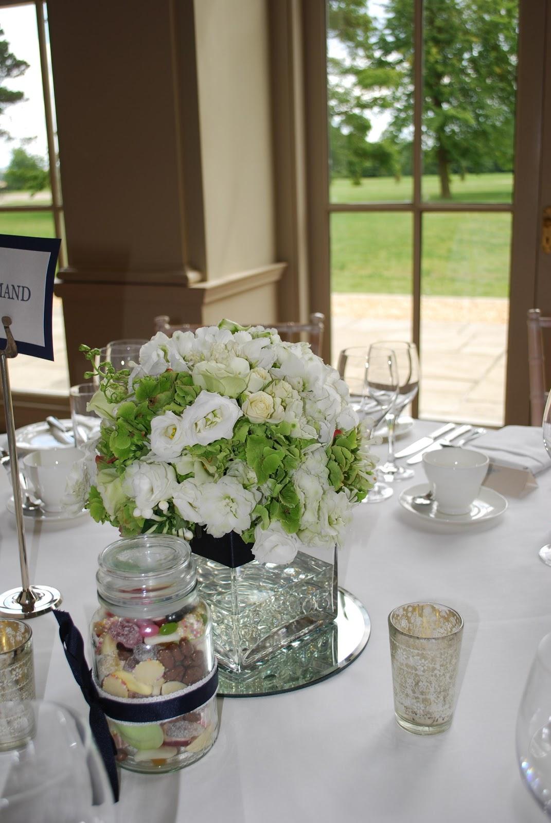 tall wedding vases with cream