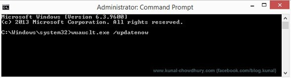 Execute force update (www.kunal-chowdhury.com)