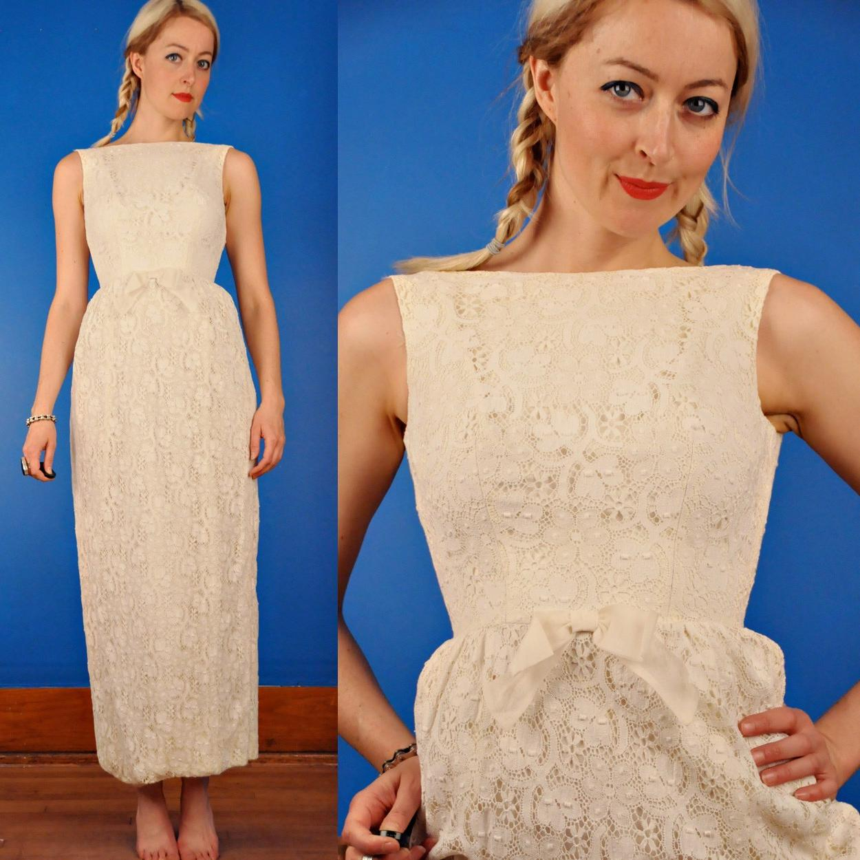 60s Wedding Maxi Dress
