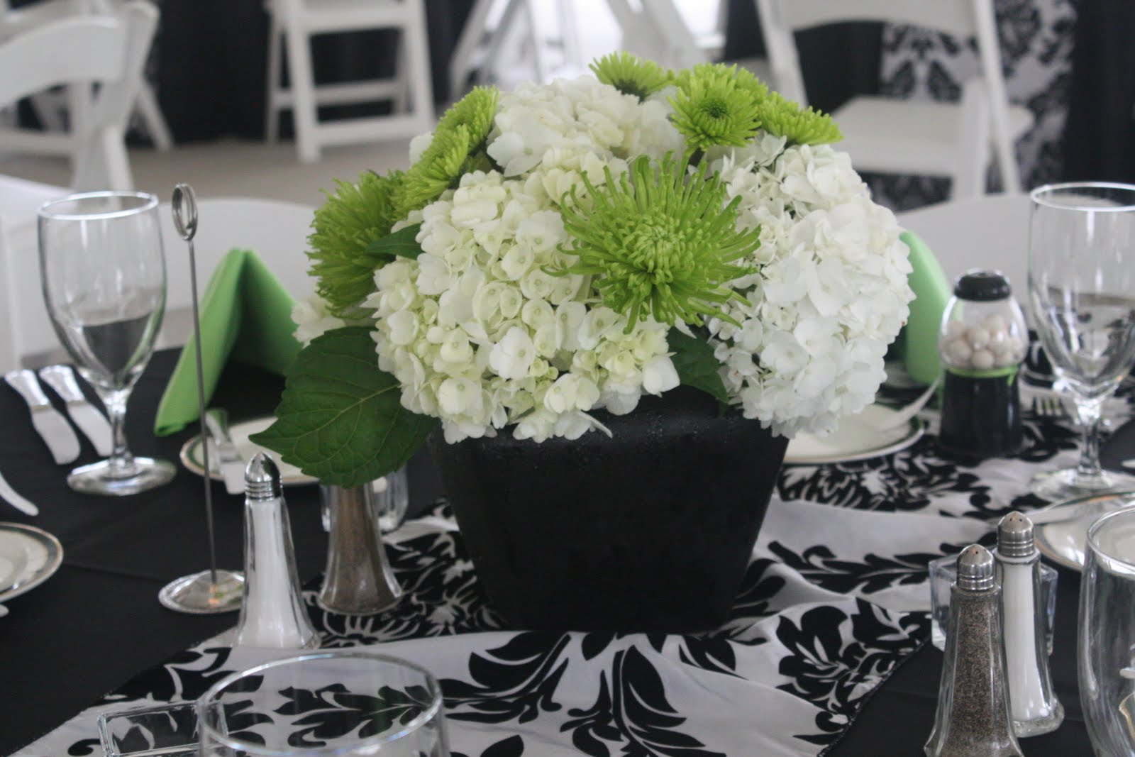 Centerpieces in black tulip