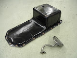 Deep sump GS pan and extended pickup, not as nice as the pickups we sell now.