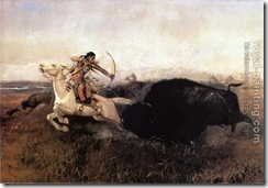 51750-Charles Marion Russell-Indians_Hunting_Buffalo